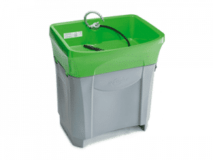 Lavapiezas manuales con bacterias